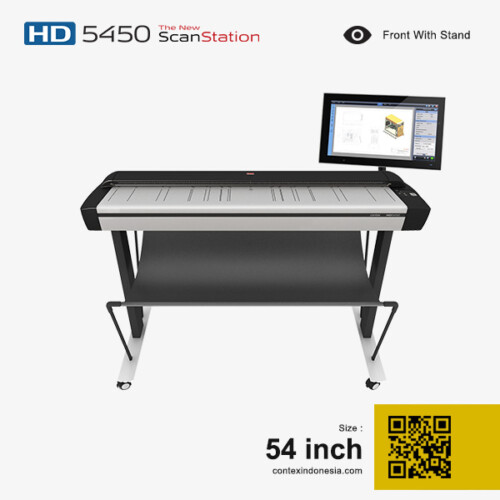 Scanner Contex Indonesia HD 5450 Plus ScanStation 54 inch Front With Stand