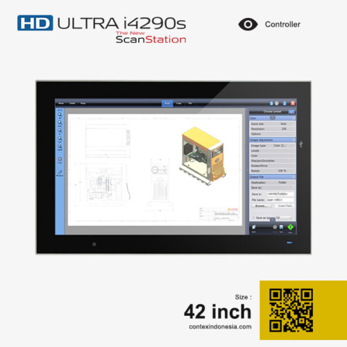 Scanner Contex Indonesia HD ULTRA i4290s New ScanStation 42 inch Controller