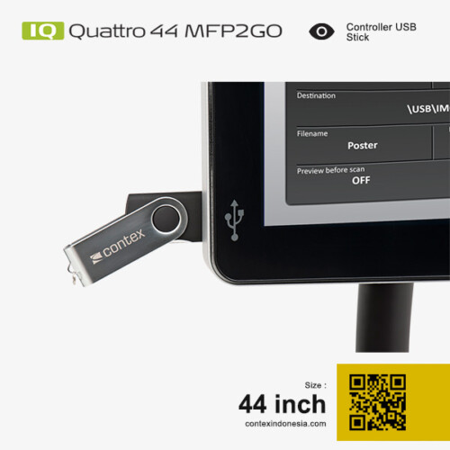 Scanner Contex Indonesia IQ Quattro 44 MFP2GO 44 inch Controller USB Stick