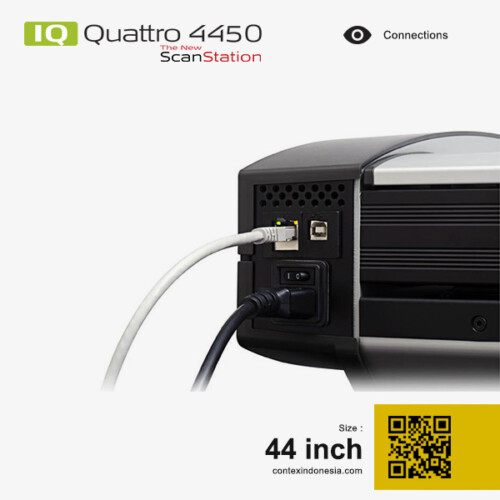 Scanner Contex Indonesia IQ Quattro 4450 New ScanStation 44 inch Connections