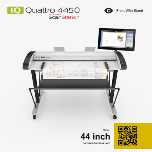 Scanner Contex Indonesia IQ Quattro 4450 New ScanStation 44 inch Front With Stand