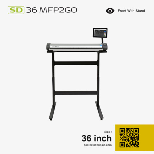 Scanner Contex Indonesia SD 36 MFP2GO 36 inch Front With Stand