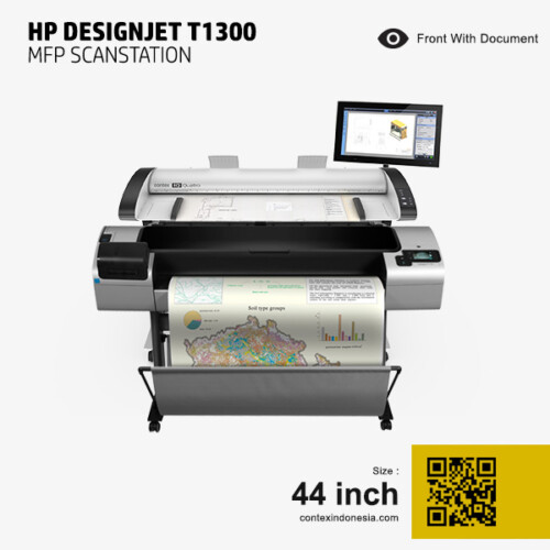 Scanner Contex Indonesia HP DesignJet T1300 MFP Scanstation 44 inch Front With Document