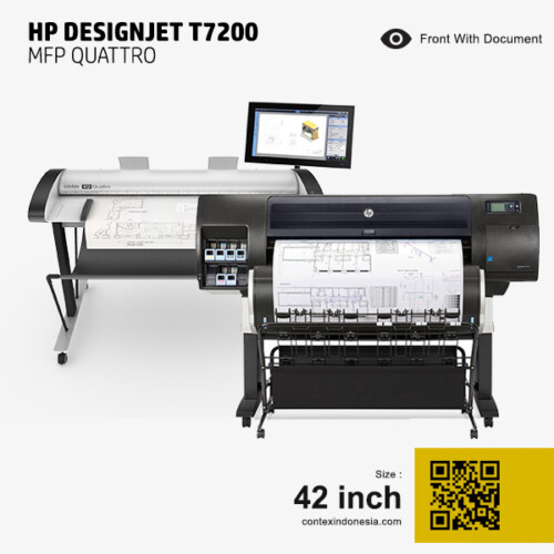 Scanner Contex Indonesia HP DesignJet T7200 MFP Quattro 42 inch Front With Document