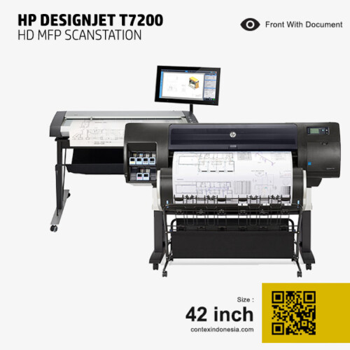 Scanner Contex Indonesia HP DesignJet T7200 HD MFP Scanstation 42 inch Front With Document